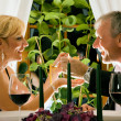 Stock Photo: Mature couple eating romantic