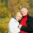 Mature couple deeply in love - Stock Photo
