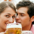 Stock Photo: Couple in traditional German