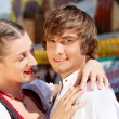 Young and beautiful couple in - Stock Photo