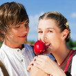 Stock Photo: Young and beautiful couple in