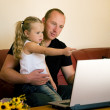 Father teaching his daughter — Stock Photo #5024180
