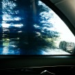 Water drops on a car window — Stock Photo