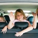 família com três filhos — Foto Stock