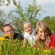Family having a walk outdoors — Stock Photo #5024332