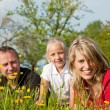 Family having a walk outdoors — Stock Photo #5024333