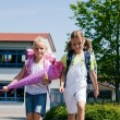 Stock Photo: Kids on the way to