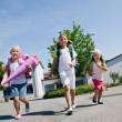 Kids on the way to — Stock Photo #5024383