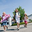 Stock Photo: Kids on way to