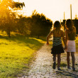 Sisters on path — Stock Photo