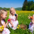 Children on a beautiful sunlit — Stock Photo #5024453