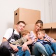 Family moving in their new — Stock Photo #5024499