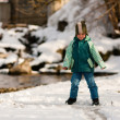 Little boy on a walk along a — Stock Photo #5024510