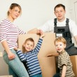 Family moving in their new — Stock Photo #5024520