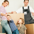 Family moving in their new — Stock Photo #5024521