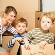Family moving in their new — Stock Photo #5024522