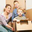 Royalty-Free Stock Photo: Family moving in their new