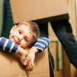 Stock Photo: Family moving in their new