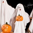 Three very, very scary spooks — Stock Photo