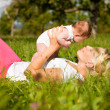Mother playing with her baby — Stock Photo #5024668