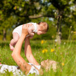 Mother playing with her baby — Stock Photo