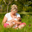 Mother breastfeeding her baby — Stock Photo #5024670