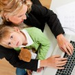 Family Business - telecommuter - Stock Photo