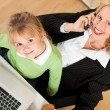 Family Business - telecommuter — Stockfoto