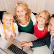 Family with their consultant - Stock Photo