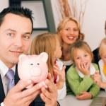familia con su asesor — Foto de Stock