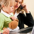 Royalty-Free Stock Photo: Family Business - telecommuter