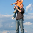 Father and his kid - daughter — Stock Photo