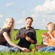 Happy family (mother, father — Stock Photo