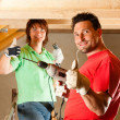 Stock Photo: DIY couple in home