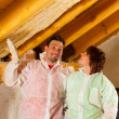 DIY couple in home — Stock Photo #5024907