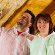 DIY couple in home - Stockfoto