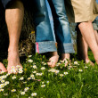 Healthy feet series: feet of men — Stockfoto