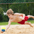 Man playing beach volleyball - 图库照片