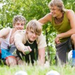 Group of young men playing — Stock Photo #5025093