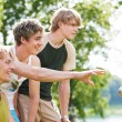 Group of young men playing — Stock Photo