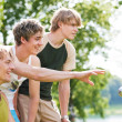 Group of young men playing — Stock Photo #5025097