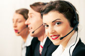 Group of three customer care — Stock Photo