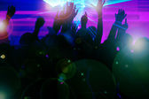 Dance action in a disco club — Stock Photo