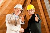 Architect and construction — Stock Photo