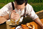 Man in traditional Bavarian — Stock Photo