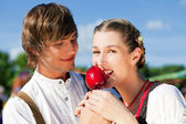 Young and beautiful couple in — Stock Photo