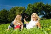 Familj (mor och dotter) — Stockfoto
