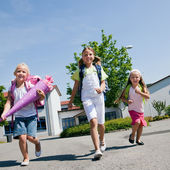 Kids on the way to — Stock Photo