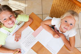 Two sisters, one preschooler — Stock Photo