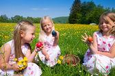 Children on a beautiful sunlit — Stock Photo
